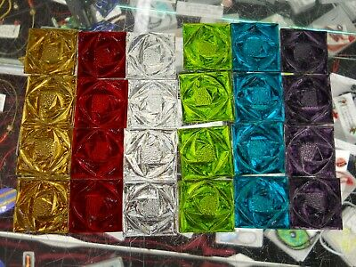 24 Assorted Stained Glass Square Rose Pattern -