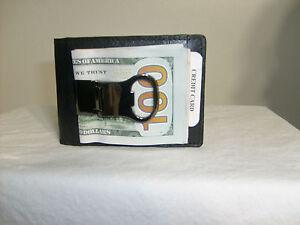 bottle opener money clip genuine leather bifold mens wallet. Black Bedroom Furniture Sets. Home Design Ideas