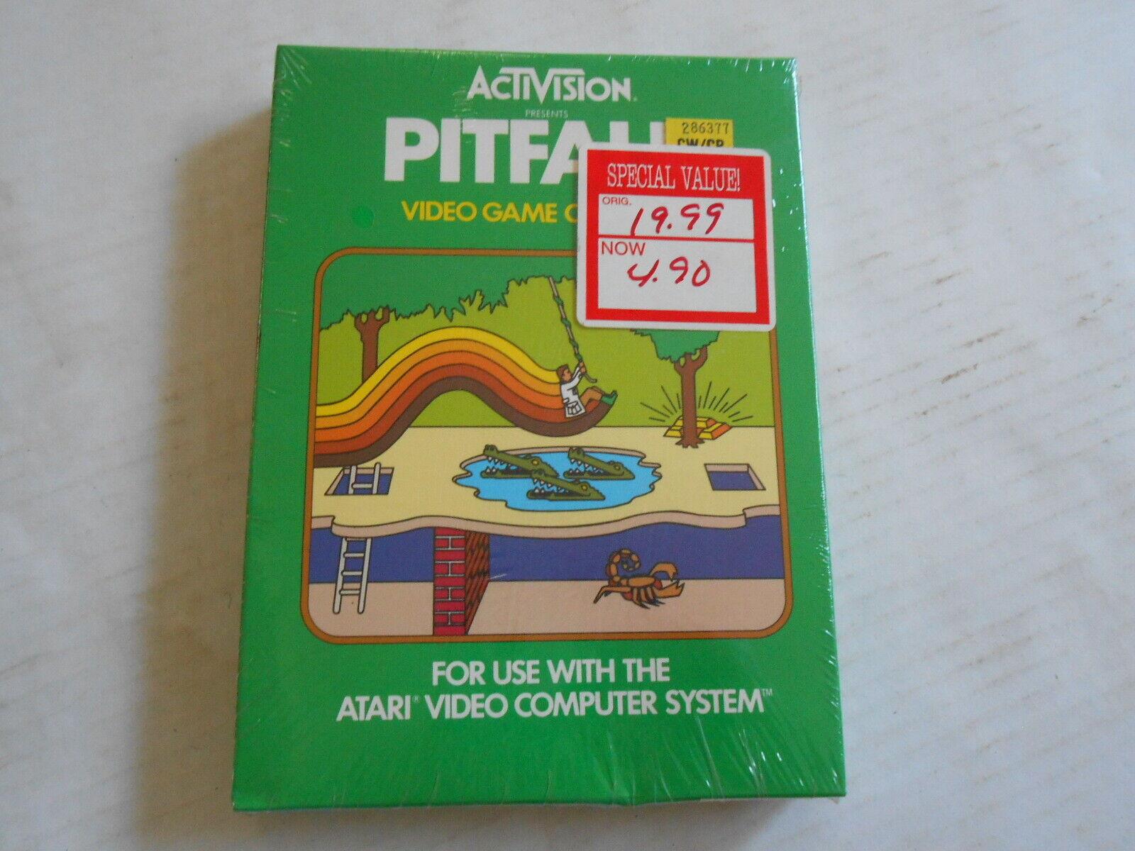 Computer Games - Activision PITFALL video game Atari Video Computer System 1982 New Sealed