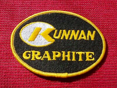 KUNNAN GRAPHITE, CLOTH EMBROIDERED FISHING/ANGLING PATCH, VERY RARE, UNUSED.