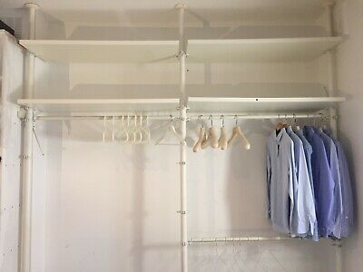 Open Ikea White Wardrobe System - adjustable w 242 cm h 280 cmd 50 cm