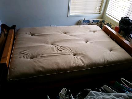 futon sofa bed couch timber base all brand new bretts futon   gumtree australia free local classifieds  rh   gumtree   au