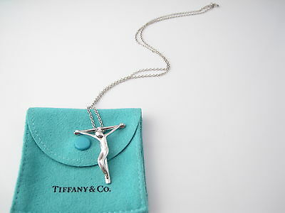 Tiffany & Co Silver HUGE Elsa Peretti Crucifix 19.25 Inch Necklace