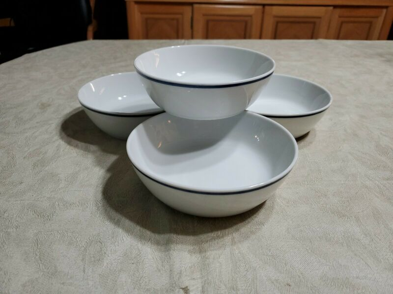 """Set Of 4 American Airlines Wessco 73-BO-128 Bowls GUC 5 7/8"""""""