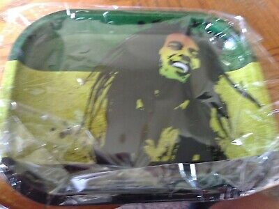 BOB MARLEY Metal Rolling Tray.Perfect size for rolling, Ships from Missouri, USA Bob Marley Rolling Papers