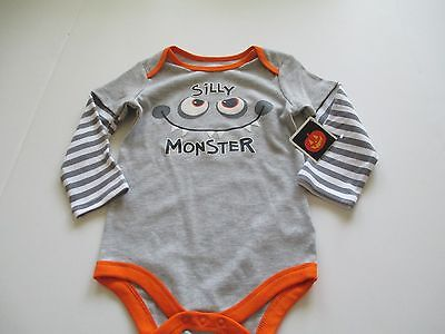 Halloween Infant One Piece SILLY MONSTER Creeper Size 3 to 6 Months New With Tag - 3 To 6 Month Halloween Costumes