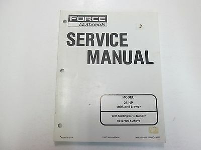 1996 & Newer Force Outboards 25 HP Service Repair Manual STAINED 90830894R1 DEAL