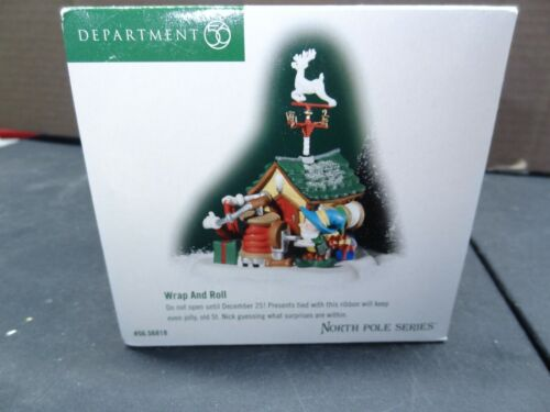 Department 56 North Pole Series Wrap And Roll #56818 Running the Loom #56838