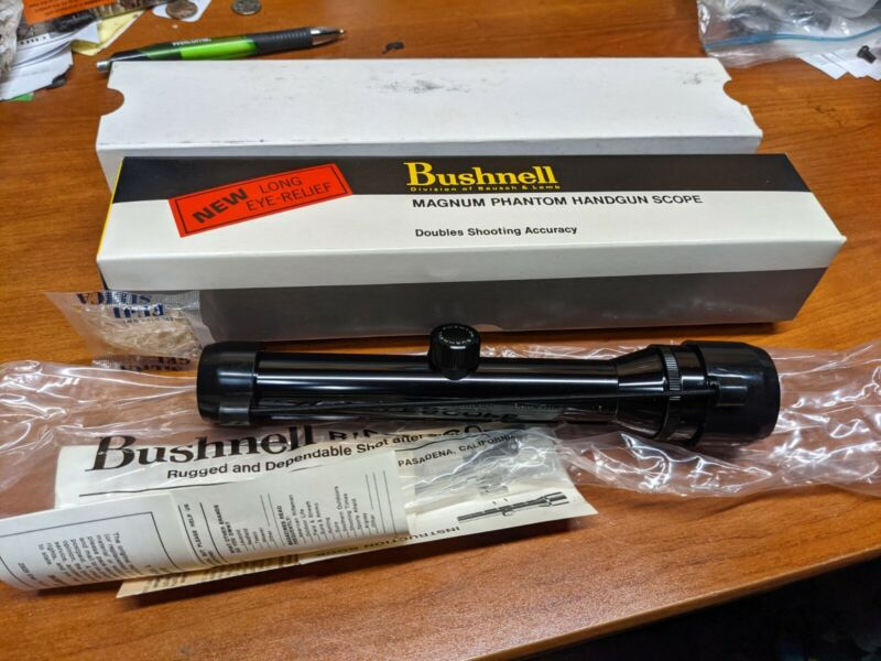 Bushnell 1.3X Phantom Pistol Scope Box Paper Vintage NEW OLD STOCK NOS
