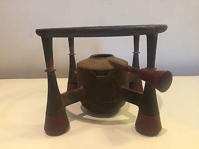 Vintage Cast Iron And Teak J. Quistgaard Warming Stand Dansk
