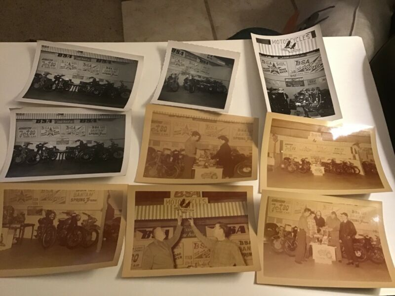BSA Motorcycle Dealer 1951 Color Photo Lot Rhoads & Cameron Lancaster PA (9)
