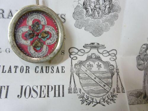 ✝ Reliquary 4 Relic St. Benedict Joseph Labre + Document