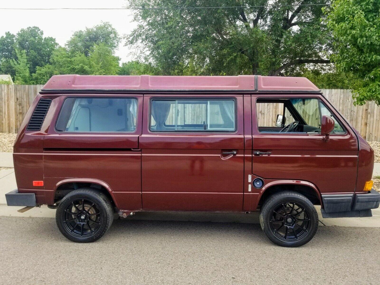 1990 Volkswagen Bus  Vanagon Gl Westfalia Bordeaux Red Pearl