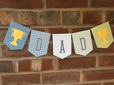 Fathers Day Bunting Golf Theme No 1 Dad Trophy golf balls golf buggy flags (Golf Themed Party Supplies)