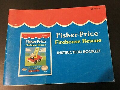 Fisher Price Firehouse Rescue NES Nintendo Instruction Manual Only