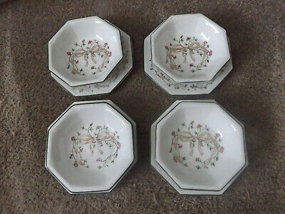 4 X SMALL SWEET DISHES & PLATES ETERNAL BEAU JOHNSON BROTHERS