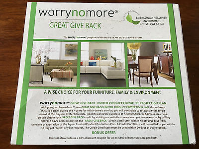 NEW WORRYNOMORE FURNITURE CLEANING & PROTECTION KIT NEW FABRIC UPHOLSTERY