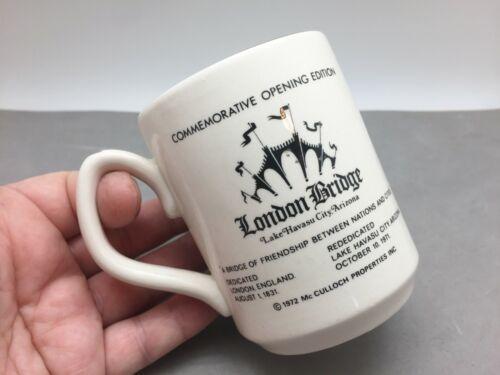 London Bridge Commemorative Opening 1971 Lake Havasu City AZ Ceramic Mug Cup