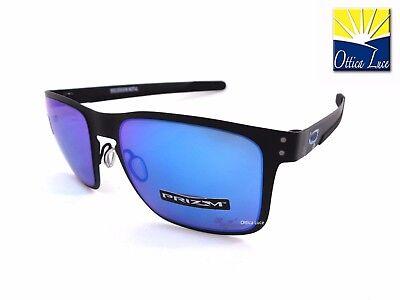 Oakley Holbrook Metall 4123 10 Black Prizm Sapphire Moto Gp Sunglasses 412310