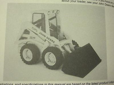 JOHN DEERE 575 SKID STEER LOADER OPERATORS MANUAL