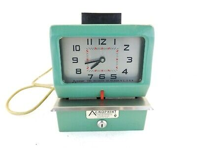 Acroprint Time Clock 125ar3 Heavy Duty Manual Time Recorder Punch Clock No Lock