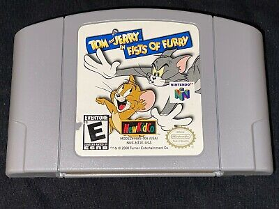 Tom and Jerry in Fists of Furry (Nintendo 64 2000) Cleaned Tested Authentic N64