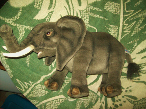 "HANSA CREATION 18"" Plush African Baby ? Elephant Dk Brown Large Ear Beautiful"