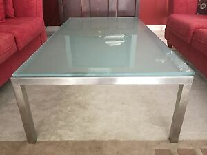 Glass and stainless steel coffee table Shenton Park Nedlands Area Preview