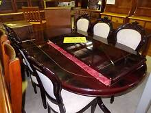 Dining Suite Hand Carved With Extension And 6 Hand Carved Chairs Ipswich Region Preview