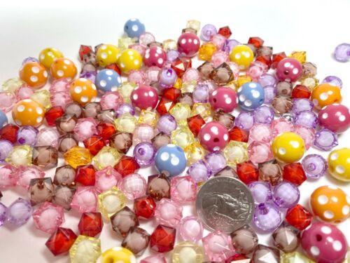 Bulk Lot 8  lbs Plastic Beads Mix Shape Colors Beads Variety DIY Craft
