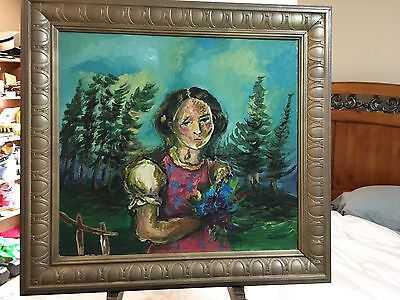 OLD OIL ON CANVAS PAINTING RUSSIAN ARTIST SIGNED...FRAME NOT INCLUDED......