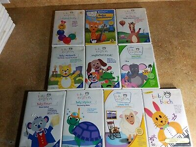 (10) Baby Einstein DVD Lot Disney Educational Toddlers Music Art Language *NICE*
