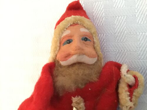 Vintage Standing Santa with Paper Mache Face