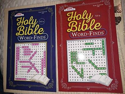 2 Puzzle Books Holy Bible Word Finds Vol 24 25 Kappa Games Search Inspirational