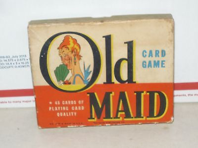 VINTAGE OLD MAID CARD GAME WHITMAN 3009 COMPLETE SET  45 CARDS, MISSING 1 CARD
