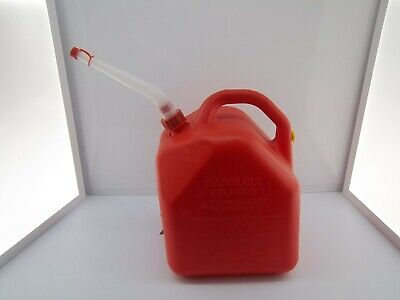 Scepter 5 Gallon Red Poly Plastic Gas Can Converted Vented Pre Ban Wnew Spout