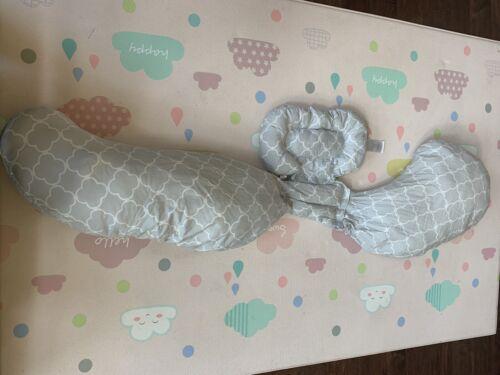 The Bobby Slipcovered Total Body Pregnancy Pillow Gray/ White - $25.00