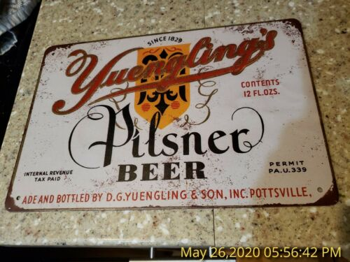 Yuengling Tin Sign Yuengling Beer Sign Metal Art Pilsner Mancave Garage Door