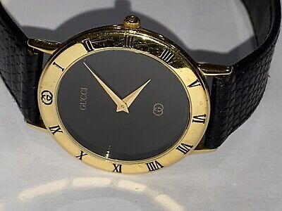 Mens Gucci Vintage Gold Plated 3000M Watch