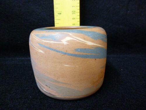 """Old Niloak Mission Swirl Vase Pot Vase Blues Brown Early Mark  Estate 3+"""""""