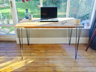 Reclaimed Wood Desk Scaffolding Vintage Hairpin Legs