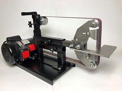 2x72 Belt Grinder With Motor Base Tool Rest