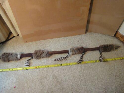 "Handmade Native American Indian, 43"" throwing spear weapon decoration."