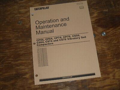 Cat Caterpillar Cs76 Vibratory Compactor Owner Operator Maintenance Manual C7f1-