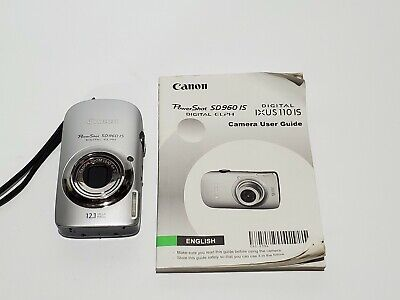 Canon PowerShot SD960 IS Digital Elph Gray Camera w/Battery Instructions
