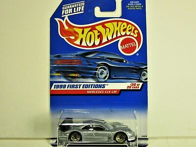 HOT WHEELS 1999 MERCEDES MBZ CLK LM ROAD RACE CAR FIRST EDITION NEW IN PACKAGE
