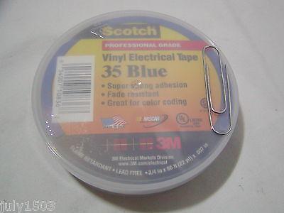 One (1) roll USA 3M Scotch 35 Blue Electrical Tape 3/4