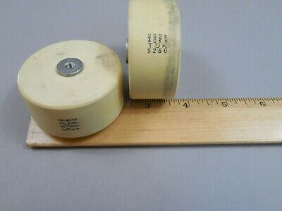 TDK UHV-40A Doorknob Capacitor 621K 30KV Lot of 2 pcs Used
