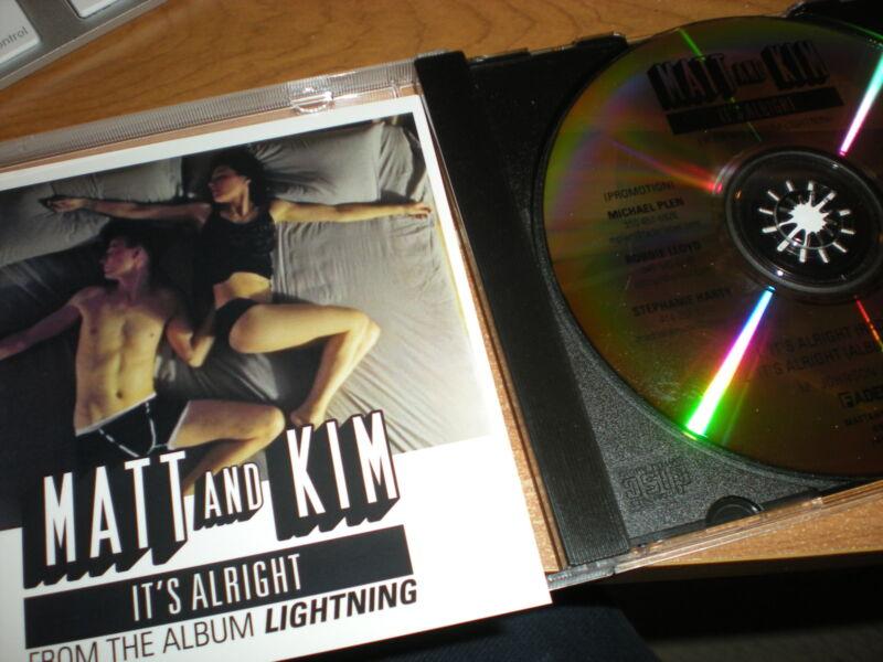 Matt and Kim It's Alright CD SINGLE radio edit album version from Lightning