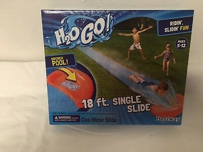 New H2O GO! 18 ft single slide with DRENCH POOL!